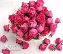 hot pink roses type 4 hot pink roses artificial silk flower heads wedding bridal