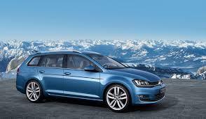 blue station wagon mk7 pacific blue golf variant wagon exterior eurocar news