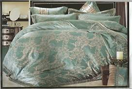 louis vuitton bedroom set mint eucalyptus green beige queen duvet set jacquard tencel