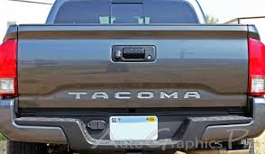 toyota tacoma trim packages 2015 2017 toyota tacoma tailgate letters rear bed lettering trd