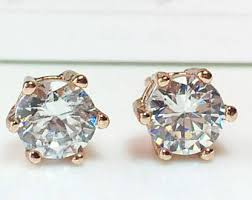 big diamond earrings big diamond earrings etsy