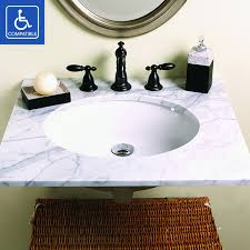 decolav 1401 series oval undermount vitreous china bathroom sink