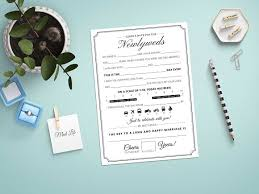 mad lib wedding guest book stationery templates creative market