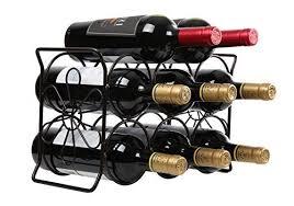 finnhomy 6 bottle wine rack with flower pattern wine bottle