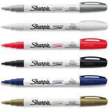 sharpie paint marker pen oil based fine point 6 color kit