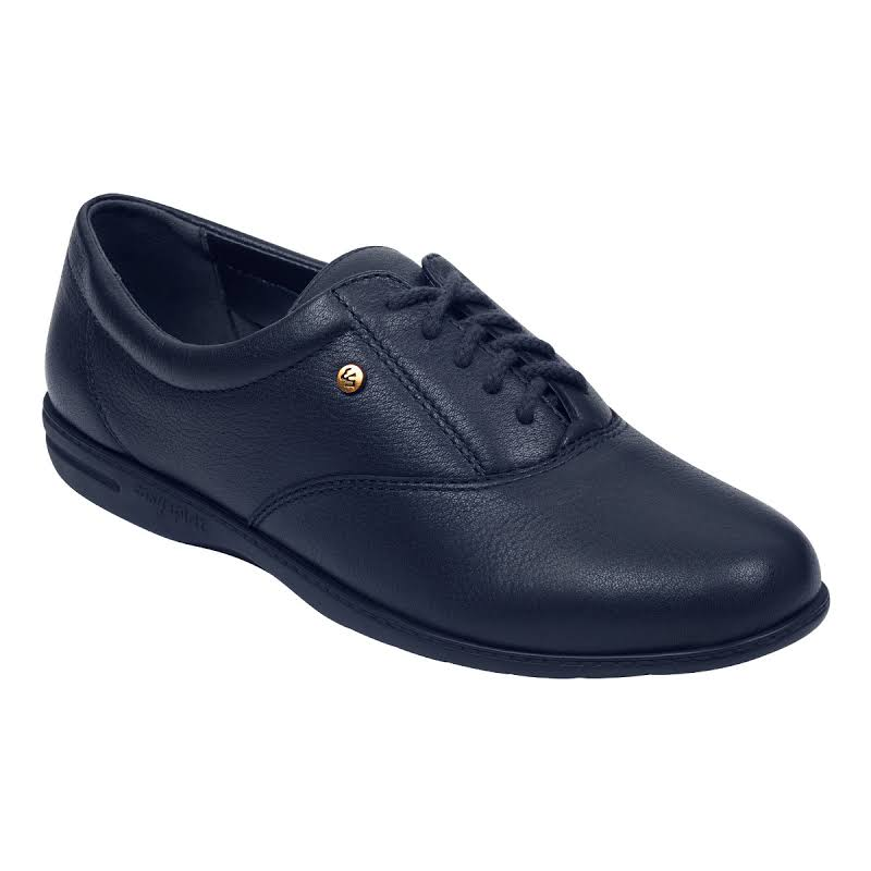 Easy Spirit Motion Leather Closed Toe Oxfords, Navy,