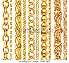 new gold set gold chain stock images royalty free images vectors