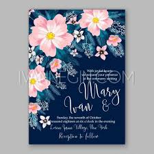 peony wedding invitation template design romantic pink peony