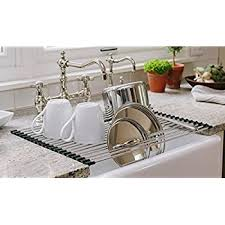 Kitchen Drying Rack For Sink by Amazon Com Over The Sink Rollable Dish Drying Rack Best Large