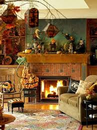 Best  Halloween Living Room Ideas On Pinterest Fall Fireplace - Living room pictures decorating