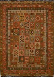 Multi Color Area Rugs Afghan Kilim Multicolor Rectangle 7x10 Ft Wool Carpet 15589
