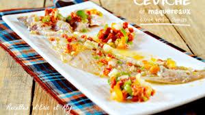 cuisiner des maquereaux ceviche ou tartare de maquereaux au citron vert et chorizo recette