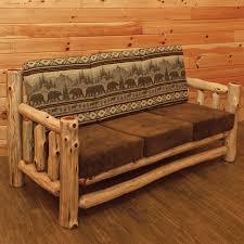 rustics red cedar log sofa
