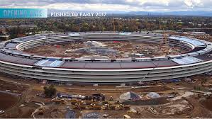 apple u0027s spaceship like campus nears completion new drone footage
