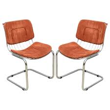pair of italian chrome wire chairs italy late 1960s for
