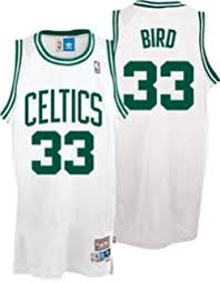 amazon com larry bird boston celtics green throwback swingman