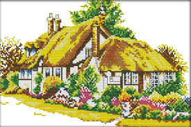 Country Cottage Cross Stitch Popular Counted Cross Stitch Cottage Kits Buy Cheap Counted Cross