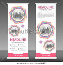 layout banner template pink roll up banner stand template design flyer layout vector