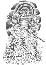 samurai geisha tattoo design idea