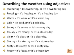 everyday conversation weather