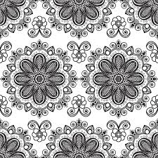 background with black and white mehndi seamless lace buta