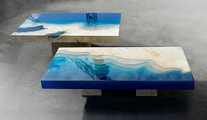 How To Make An Engine Coffee Table New Marble And Resin Lagoon Coffee Tables By Alexandre Chapelin