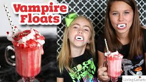 vampire ice cream floats kids halloween recipe living locurto
