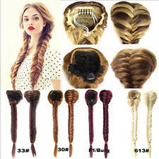 how to braid extensions into your own hair clip in hair braids ebay