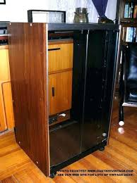 Stereo Cabinet Glass Door Corner Audio Cabinet Stereo Cabinets Rack Mount Gear For Vintage