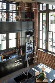 Deco Loft Americain Cuisine En Acier Dans Un Loft à San Francisco Lofts Industrial