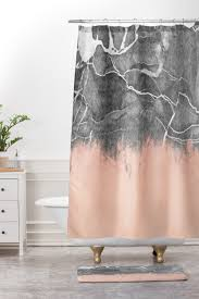 crayon marble with pink shower curtain and mat emanuela carratoni