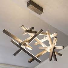 Wooden Chandelier Modern Led Wood Chandelier Led L Wood L Modern Home Deco