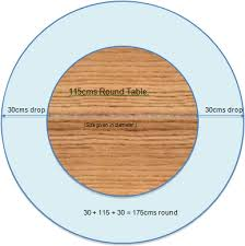 5ft round table in inches how to find the correct size tablecloth for your table
