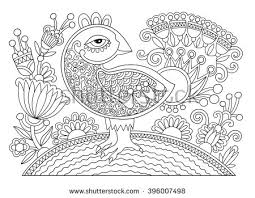 coloring book page swan family stock vector 660245902