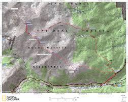 Colorado 14er Map by Mt Massive Via The Southeast Ridge Denverdavis
