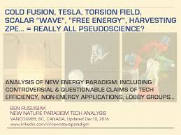 cold fusion tesla scalar wave torsion field free energy