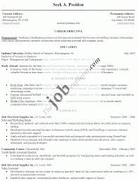 Simple Job Resume Format by Example Of Resume For Job