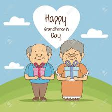 gifts for elderly grandparents color background in landscape elderly with gifts