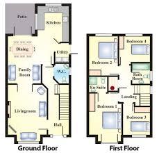 semi detached floor plans chic design 2 modern semi detached house plans bedroom ghana