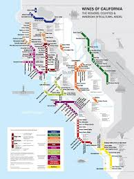 map of california metro wine map of california