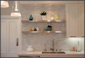 Stick On Kitchen Backsplash Contemporary Kitchen Ideas With Gray Mosaic Glass Peel Stick