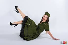 pinup army military costume dress retro rockabilly pin up