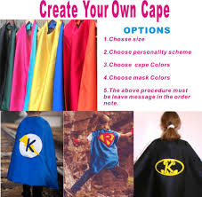 Halloween Birthday Gifts 2017 Wholesale Create Your Own Cape Personalized Kid U0027s Capes