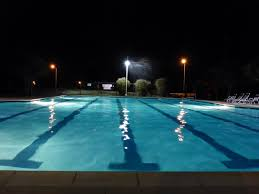 Pool At Night Turtle Creek Community Pool Round Rock Texas Turtle Creek