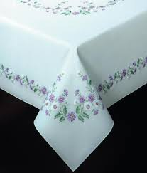 Oblong Table Cloth Traced Linen Table Cloths Other