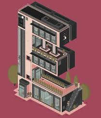 architecture gif quirky architectural gifs that turn letters into buildings