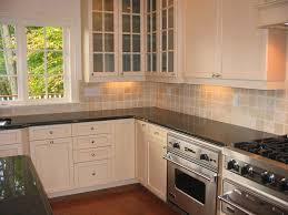 Installing Kitchen Tile Backsplash by Granite Countertop Install Cabinets Kitchen Copper Range Hood