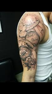 tattoos wings half sleeves designs