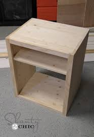 Build Wood End Tables by Best 25 Diy Nightstand Ideas On Pinterest Crate Nightstand