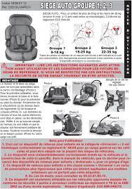 reglementation siege auto bébé siege auto groupe 1 2 3 pdf